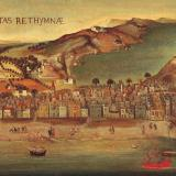 A Venetian era map of the town of Rethymno
