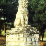 Amfipolis, the Lion of Amfipolis (a burial monument of the 4th c. b.C.) was restored near the position it was discovered, next to the west bank of Strymon, close to the bridge