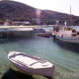 Sykia, crystal green blue waters and boats
