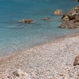 Antikythira, a beach with pebbles