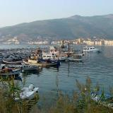 Gemlik, anchored boats