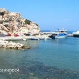 Kamiros Skala, the port of the ancient town is nowadays a fishing area