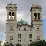 Tripoli, the Metropolitan Church of St. Vasileios, in the central square, is built on stores