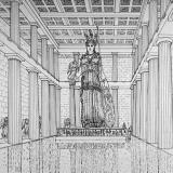 The gold-and-ivory statue of Athena in the Parthenon (reconstruction)