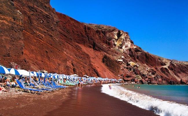 Αποτέλεσμα εικόνας για Κόκκινη παραλία Σαντορίνη