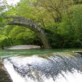 Crossing Voidomatis River: The bridge at Aristi