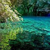 The turquoise waters of Melissani Lake