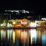 Port by night, Mytilini