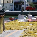 Fisherman at Serifos port