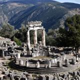 The tholos of Delphi marks the sanctuary of Athena Pronaia at Delphi