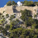 Saint Panteleimon chapel within the Monolithos castle.