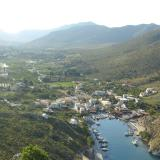 Aerial panoramic view of Vathys area