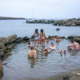 Loutra's thermal springs