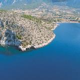 Aerial view of Korinthiakos gulf