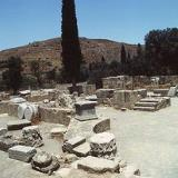 Agora ruins in front of the basilica, Gortyn