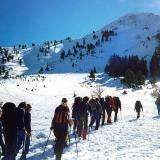 Cross country skiing on Helmos mountain