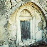 The portal of the Byzantine church of the Panagia in Monohoro
