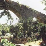 An old aqueduct behind the platia in Elos