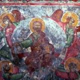 A fresco in the Byzantine church of Agios Ioannis in Kato Varsamonero