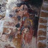 A fresco in the Byzantine church of Agios Pavlos, Agia Roumeli