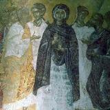 A fresco in Agios Pandeleimonas Church, Pigi