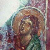 A fresco from the Byzantine church of Agios Stefanos, Drakona