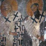 A fresco in the Panagia Kardiotissa, Miriokefala