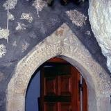 Decorations on the portal of Agia Paraskevi Chapel in Christos