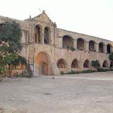Moni Arkadiou, the entrance and the interior courtyard of the monastery
