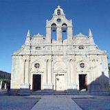 Moni Arcadiou, the spectacular facade of the church is of rennaissance style