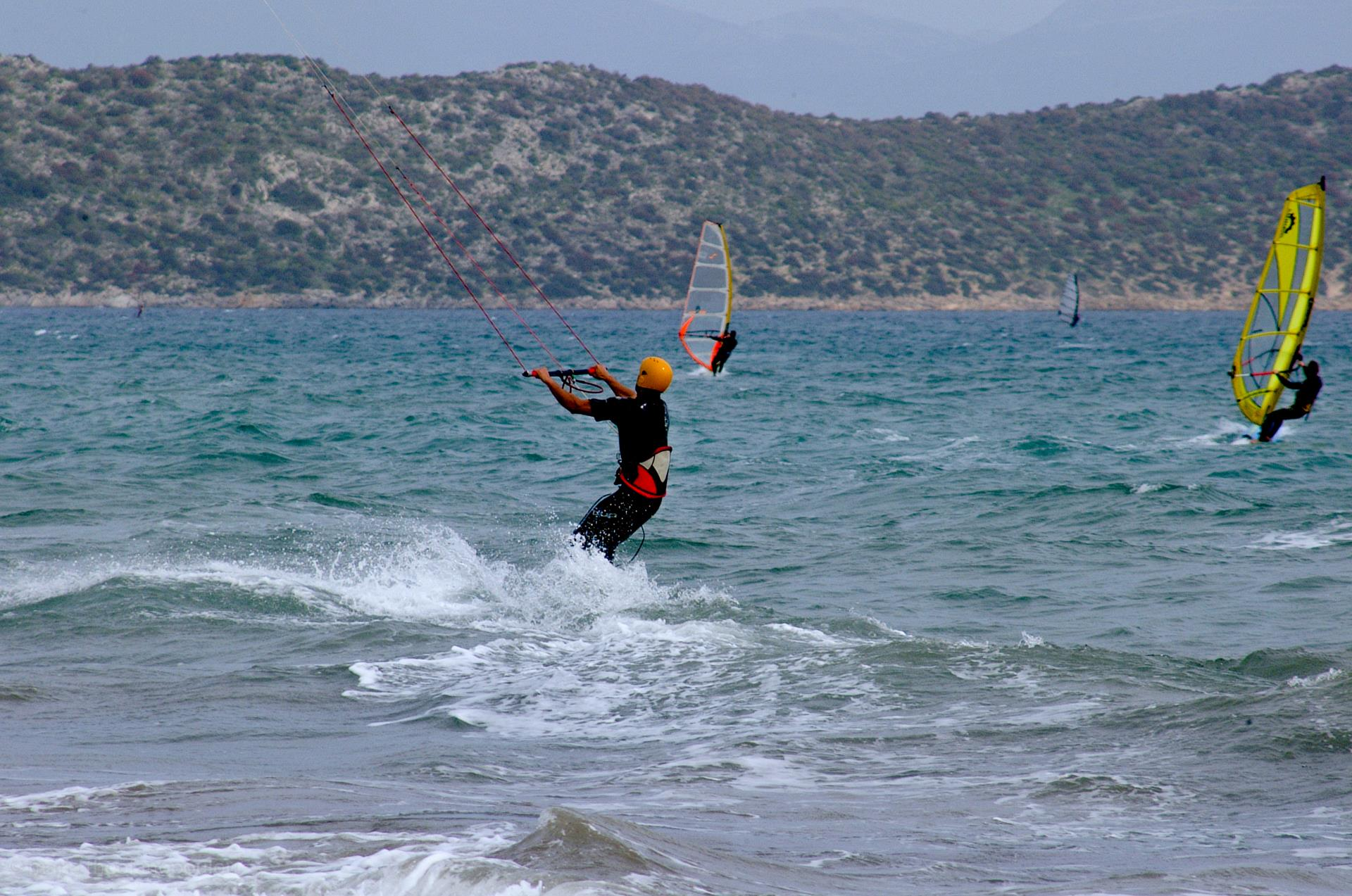 Ideal beaches for windsurfing and kite surfing SCHINIAS (Settlement) MARATHONAS