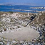 Delos; the ancient theater