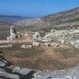 Plevron, the ruins of the Hellenistic theater lie in the western sector of the city which was rebuilt after the destruction in 234 BC