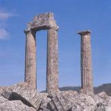 Nemea; the ruined temple of Zeus