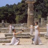 Ancient Olympia, kindling the Olympic flame