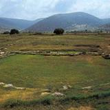 Mantineia ancient theater - The little theater of Mantineia delimits the west side of the agora; its cavea was formed on a man-made fill