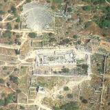 Aerial view of Apollo's sanctuary at Delphi