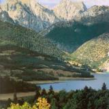 Lake Plastiras with the mountainous maze of Agrafa beyond