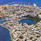 An aerial view of Agios Nikolaos