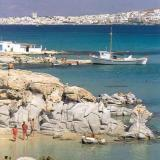 Paros, the huge contorted rocks at Kolymbithres look like modern sculptures set in the sand