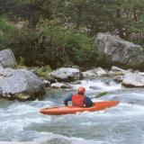 The Voidomatis, tributary of the river Aoos, rises in the Vikos gorge, its rushing waters are ideal for kayakers