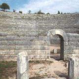 Detail of the theater of Dodone, the Basileios Gate