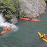 Kayaking in the Voidomatis river