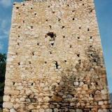 The Venetian tower at Gymno, It used to be two times taller than today