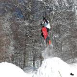 Vitsi, a leap with a snowboard