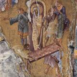 Byzantine painting went to great lengths in respect of color range. Fresco from the Pantanassa church, 15th century