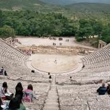 Set against a backdrop of lush landscape, the theatre of Epidaurus is marvelled for its exceptional acoustics