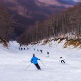 Snowy slope on Vermion mountain, in 3-5 Pigadia ski center