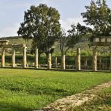 The temple of Artemis, a doric prostyle temple, is one of the monuments that are located within the Sanctuary of the Brauronian Artemis.