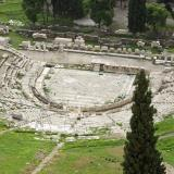 In the theatre of Dionysus were performed for the first time the works of the great Greek tragedians